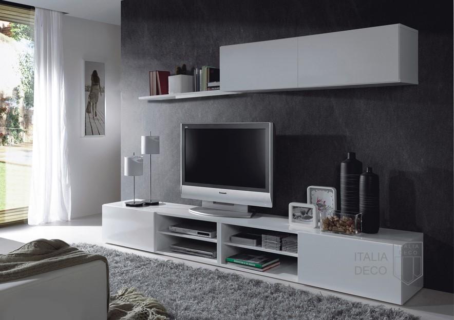 Rack modular moderno para lcd siena italia deco for Modulares de tv modernos