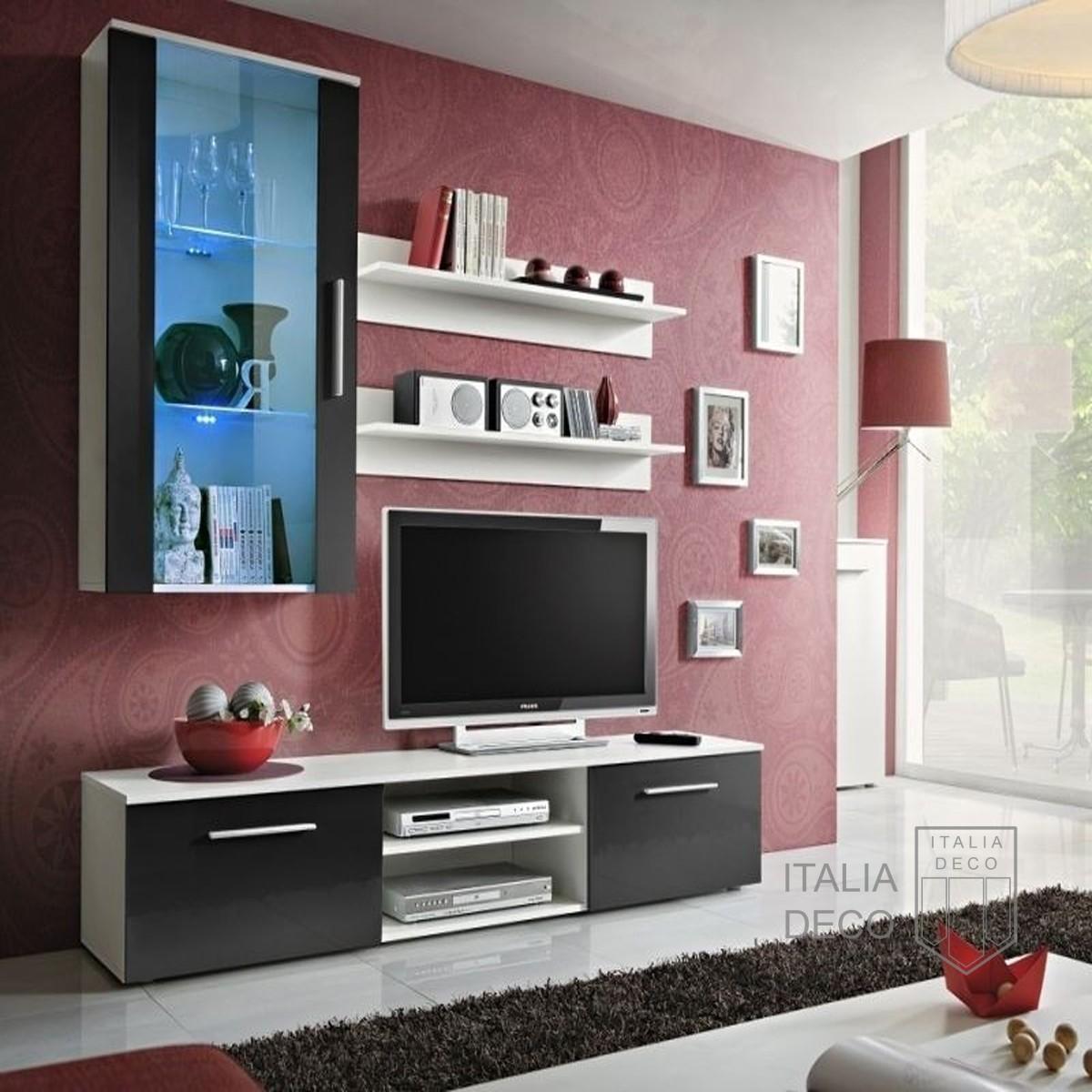 Modular para tv lcd vajillero trento italia deco for Mueble moderno para tv