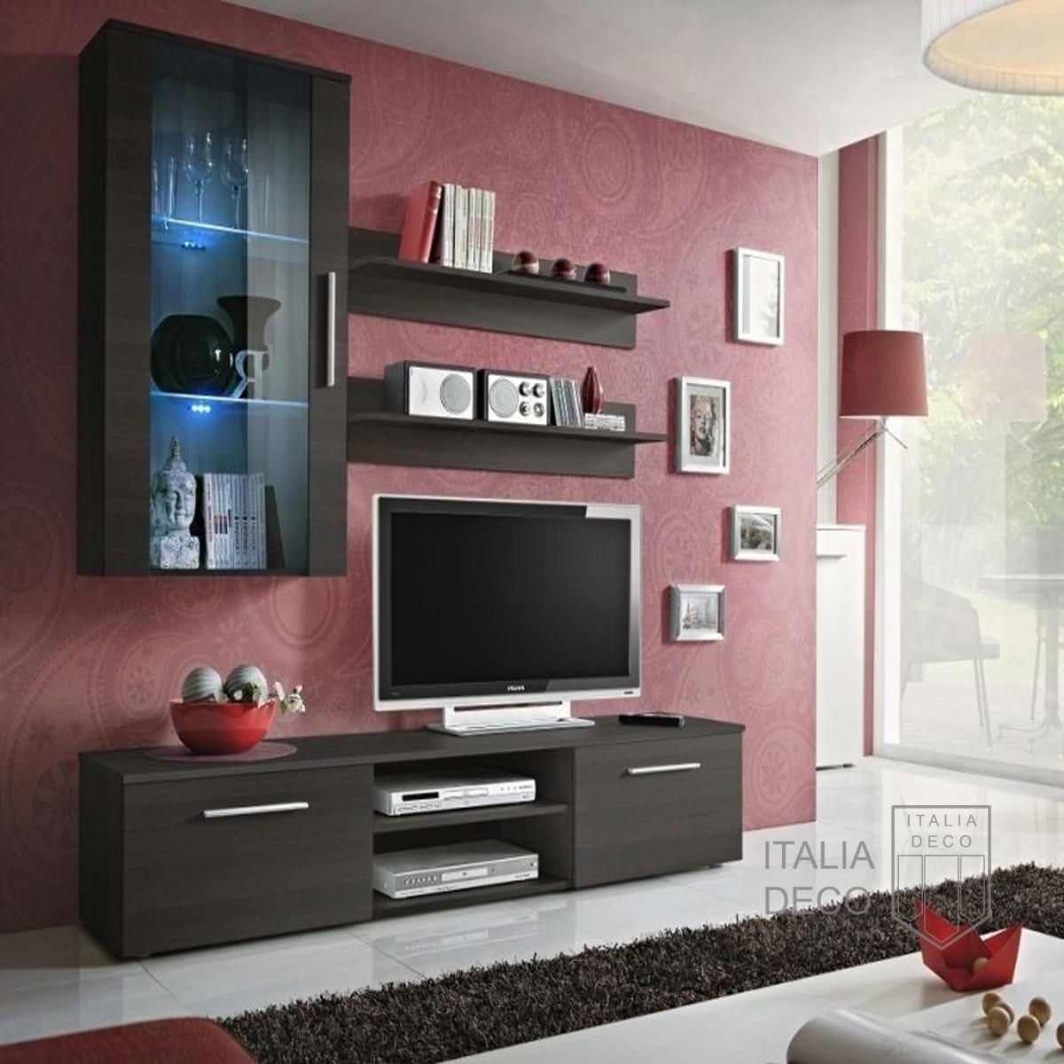 Modular para tv lcd vajillero trento italia deco for Muebles modernos living para tv